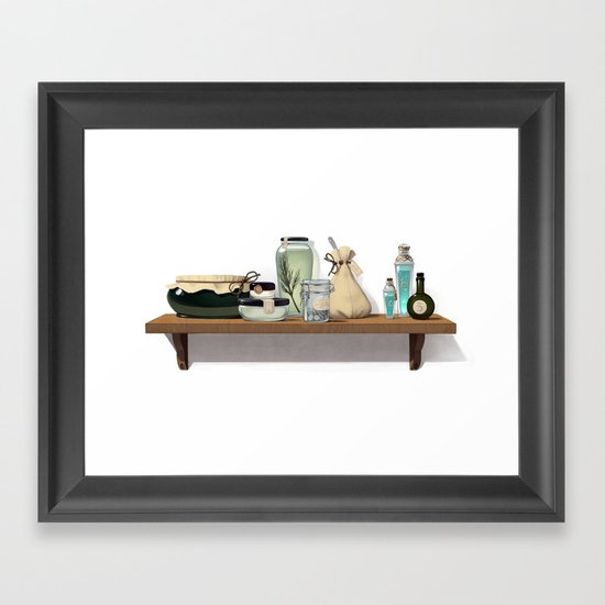 Potions and Poultices Framed Art Print