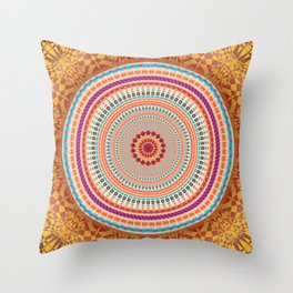 Friendship Mandala - מנדלה רעות Throw Pillow