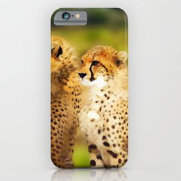 Pair of Cheetahs iPhone Case