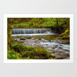 Cascada Valul Miresei, Romania Art Print