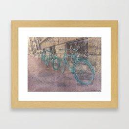 Three Bikes Framed Art Print