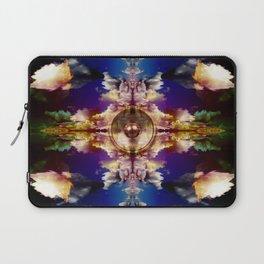 Music speaker and kaleidoscope clouds Laptop Sleeve