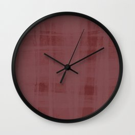 Burgandy & Lace Wall Clock