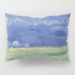 Wheatfield under Thunderclouds Pillow Sham