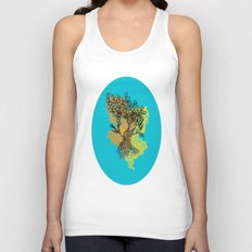 peacock tree Unisex Tank Top