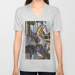 Wooden horse riding Unisex V-Neck