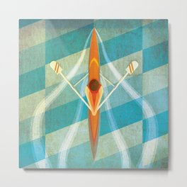 The Rower Metal Print