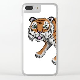 Tiger illustration Clear iPhone Case