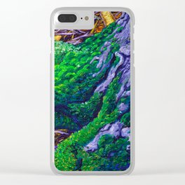 Tree Roots with Moss Clear iPhone Case