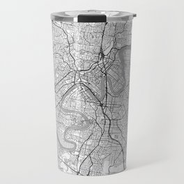 Brisbane Map Line Travel Mug