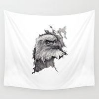 eagle Wall Tapestries featuring Eagle by maxandr