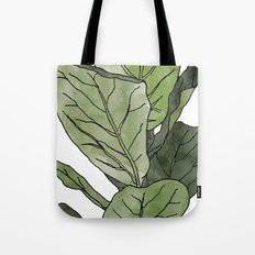 Ficus Lyrata Potted Plant.. Tote Bag
