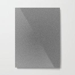 Dense Melange - White and Black Metal Print