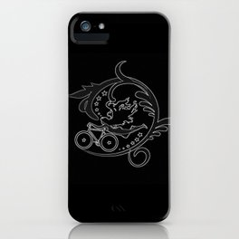 Star Girl Bike Swirl Black iPhone Case