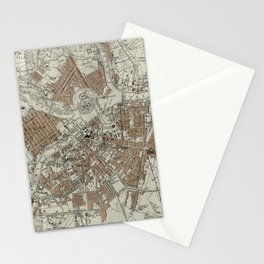 Vintage Map of St Petersburg (1893) Stationery Cards