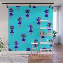 Jessie Martian (blue) Wall Mural