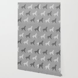 Origami Unicorn Grey Wallpaper