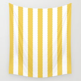 PRIMROSE YELLOW STRIPES Wall Tapestry