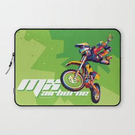 MX Airborne Motocross Stunt Fly Laptop Sleeve