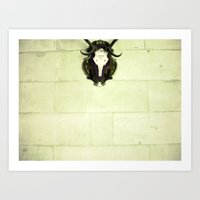 antler Art Prints featuring Antler by Jerica