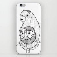 hats iPhone & iPod Skins featuring On how baby bears are often used as winter hats by Michael C. Hsiung