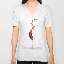 Red Wine Unisex V-Neck