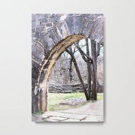 Stone Passageway Metal Print