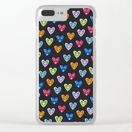 LOVE HEARTS Clear iPhone Case