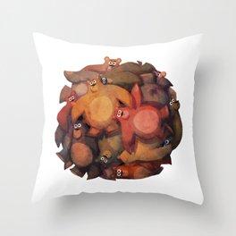 Bear Ball Throw Pillow