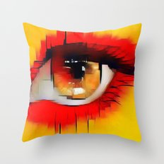 Glamorous eye Throw Pillow