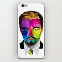 leonardo dicaprio iPhone & iPod Skins featuring Leonardo DiCaprio - popart portrait by Dep's