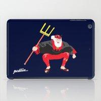 tour de france iPad Cases featuring Tour Devil by Pedlin