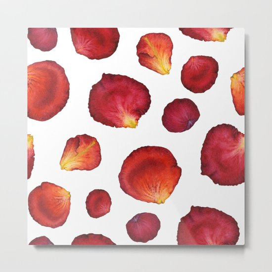 Rose Petal Pattern 03 Metal Print