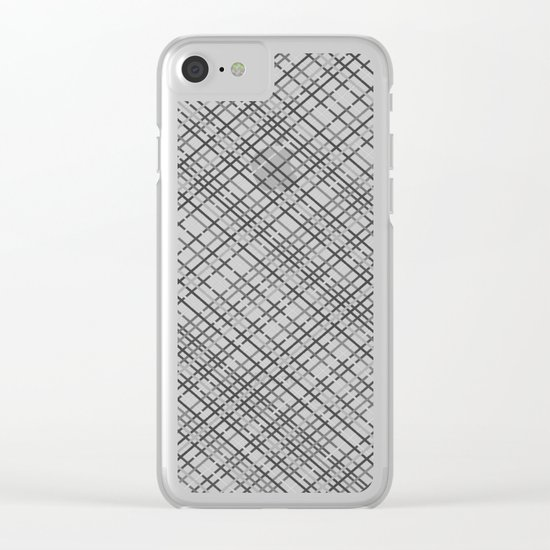 Weave 45 Black and White Clear iPhone Case