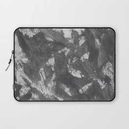 White Chalk and Black Ink Laptop Sleeve
