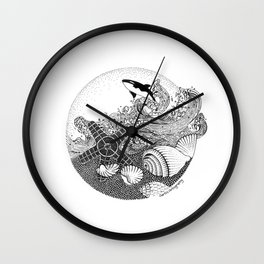 Inspire by Ocean Wall Clock