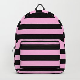 Stripes (Black & Pink Pattern) Backpack