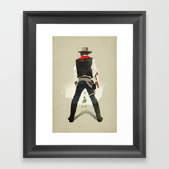 Long, long time ago… Framed Art Print