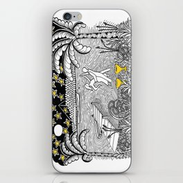 Beach Dancing under Stars Zentangle Style iPhone Skin