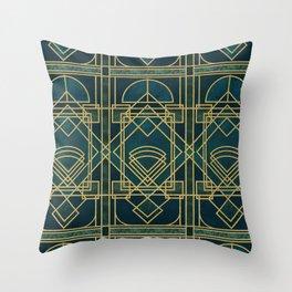 Art Deco Elegant Gatsby Style Throw Pillow