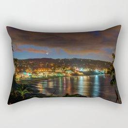 Crescent Moon Over Main Beach Rectangular Pillow