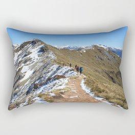 New Zealand Backpacking Adventure Rectangular Pillow