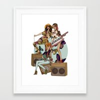 almost famous Framed Art Prints featuring ALMOST FAMOUS by annabours