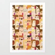 Men with beards Art Print