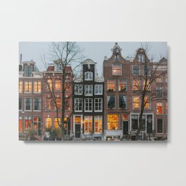 Early Evening in Amsterdam Metal Print