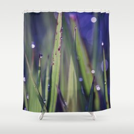 grassy abstract Shower Curtain