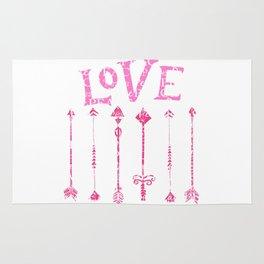 Retro Love with Tribal Arrows Rug