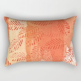 Tomato red abstract painting Rectangular Pillow