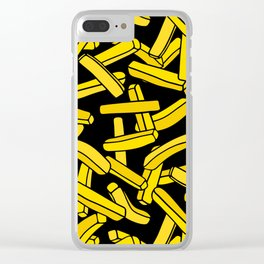 French Fries on Black Clear iPhone Case