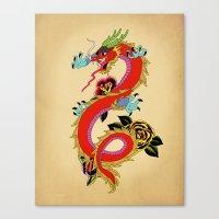 dragon Canvas Prints featuring dragon  by mark ashkenazi